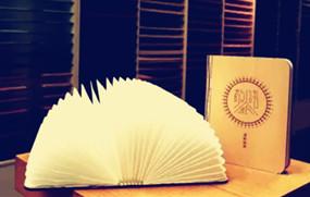 【创意纸品】可折叠书灯